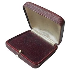 1920s Jewelers Box Lining Velvet Satin Faux Leather Push Button
