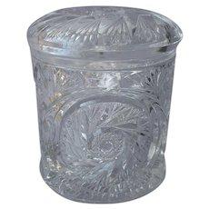 McKee Aztec 1903 Pickle Jar Antique EAPG Pressed Glass