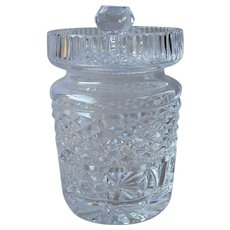 Cut Glass Jam Marmalade Jelly Jar Vintage Copy Of Waterford Castlemaine