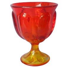 Amberina Viking Epic Mid Century Candy Dish Base Vintage Glass