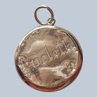 Eveleth Engraved On Battered Gold Filled Locket Antique