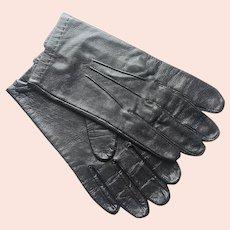 Mark Cross Leather Gloves Black Vintage Cabretta Cape Mens S Ladies XL