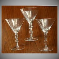 Moser Ophelia Rare Cocktail Stemware Glasses Gold Rim 3