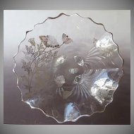 Silver City Sterling Overlay Flanders Crimped Centerpiece Bowl Label