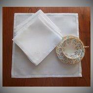 Monogram G Breakfast Napkins Linen Damask Vintage 1910s 1920s