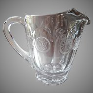Fostoria Coin Glass Pitcher Vintage