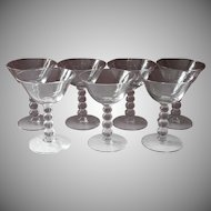 Candlewick Cocktail Glasses Imperial Vintage Stemware Set 7