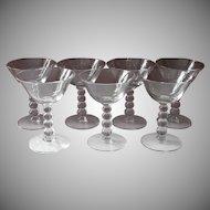 Candlewick Cocktail Glasses Imperial Vintage Stemware Set 7