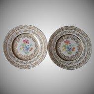 Plates Fondeville Laurelton China Vintage Lacy Gold Floral