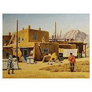 "Frank Gavencky   ""Indians at the Adobe"""