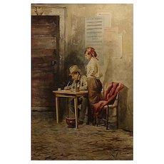 """Casimiro Tomba  """"Checking the Books"""""""