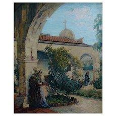 "Hannah Tempest Jenkins  ""A Meeting at the Mission San Juan Capistrano"""