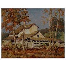 George Wallace Olson  Barn in the Arroyo Seco