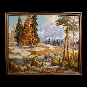 """Eugene Dunlap  """"Sierra Landscape"""" 30x36 oil"""