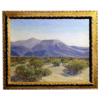 "William A Griffith  (""Desert near Palm Springs) ""Blue Mountains"""""