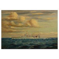 "Oliver Houston  ""Pre World War 2 battleship"" circa 1935"