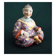 Wonderful, Rare Sitzendorf  Figural Scent Bottle