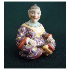 Wonderful, Rare Sitzendorf  Figural Scent Bottle
