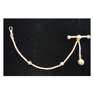 Etruscan Style 18K Gold Watch Chain, Very Nice