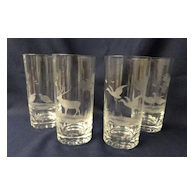 Rowland Ward Wildlife Highball Glasses