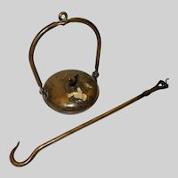 19th Century French Hanging Miner's Lamp