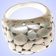 Vintage Sterling Silver High Profile Ring