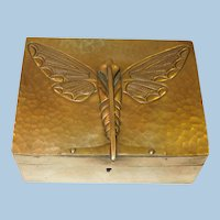 European Art Nouveau Brass Cigarette/Cigar Box