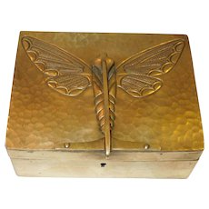 Ingenious Antique French Art Nouveau Jewelry Flower Trinket Box Pewter Dressing Table Antiques