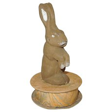 Vintage German Rabbit Candy Container