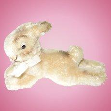 "Vintage Steiff Laying Rabbit, 4 1/2"""