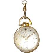 Vintage 14K Titus Bubble Skeleton Orb Watch