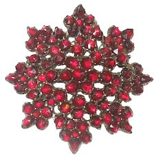 Antique Bohemian Garnet Brooch