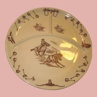 """13"""" Tepco Western Traveler Divided Grill/Chop Plate"""