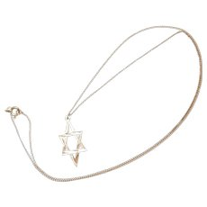 14K Star of David Pendant Necklace with Chain