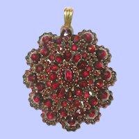 Bohemian Garnet Pendant C. 1880's