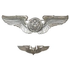 WWII Sterling Silver US Army Air Corps Pilot Wings