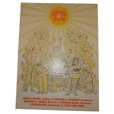 """Bohemian Grove Low Jinks Play Poster 1983 """"Reach for the Sun"""""""