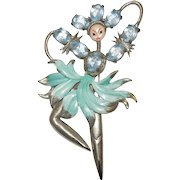 Rare Van S. Authentics Flower Fairy Brooch