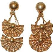 Vintage Fun and Fabulous Napier Dangling Earrings