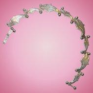 Vintage Sterling Silver Dolphin Bracelet