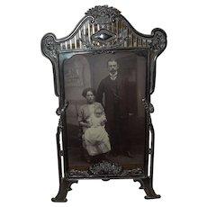 c.1900 German Jugendstil Tabletop Standing Frame
