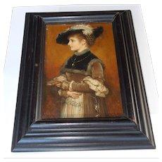 1879 Wilhelm Menzler Oil Painting on Board Germany