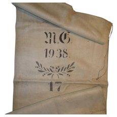 Primitive European Grain Sack 1938