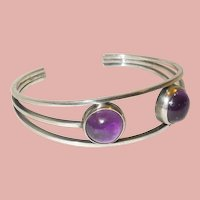 Vintage Germany Perli Silver and Amethyst Bracelet
