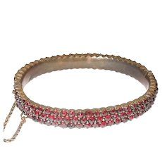 Victorian Bohemian Garnet Bracelet Bangle