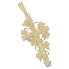 Unusual Vintage Celluloid Rosary Crucifix