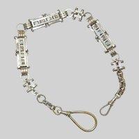 c 1900 Unusual 800 Silver Watch Chain