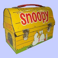 1968 Snoopy Dome Top Lunch Box