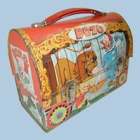 1963 Bozo The Clown Dome Top Lunch Box