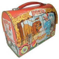 1963 Bozo The Clown Dome Top Lunch Box